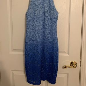 blue ombré dress